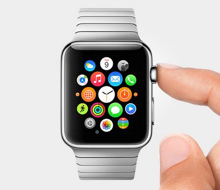 Apple Watch knappen på siden