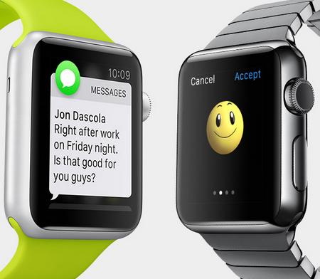 Send og modtag beskeder direkte i Apple Watch