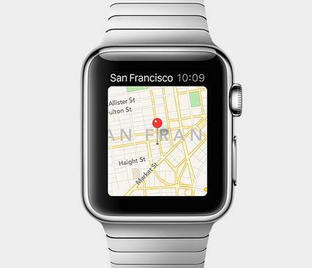 Maps (kort) er integreret i Apple Watch