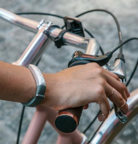 Jawbone Up3 på cykel