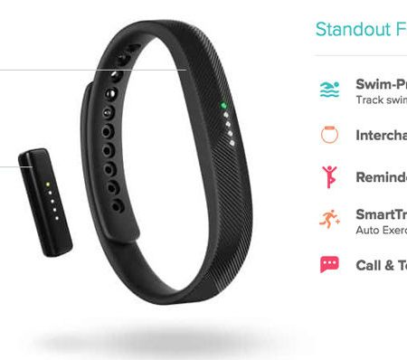 Fitbit Flex 2 features
