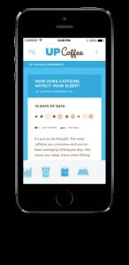 Se hvordan koffein påvirker din søvn med Up Coffee app og armbånd