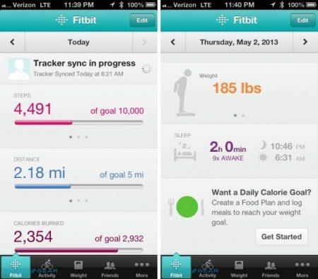 Fitbit Flex app'en