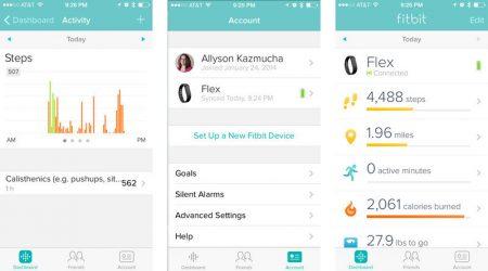 Fitbit Flex app'en til iOS