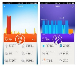 Jawbone Up app søvn og motion