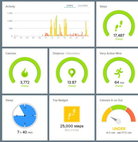 Vivofit dashboard